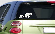 "Elephant family 8"" sticker *E986* decal cute laptop african asian elephants"