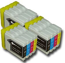 12x LC980 Cartucce Di Inchiostro Non-OEM Alternativo Per Brother DCP-375CW,