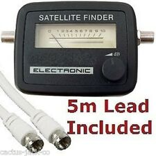 Misuratore SATELLITARE SEGNALE SAT FINDER satfinderwith 5m Lead