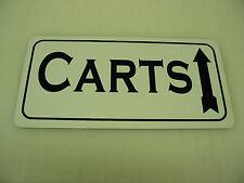 CARTS Sign 4 Golf Shorts Pants Shirts Balls Clubs w arrow Straight Ahead