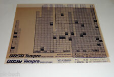 Microfich Ersatzteilkatalog Fiat Tempra MQ / 93 (1370 - 1580) Stand 03/1995