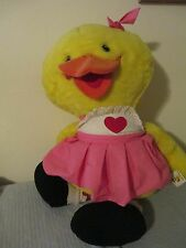 Suzy Ducken Huge Plush Doll Stuffed Animal 3' Suzys Zoo Duck Giant Large Vtg Toy
