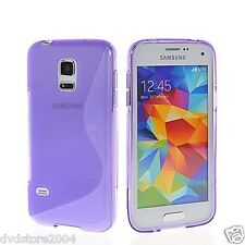 Custodia cover case gomma WAVE VIOLA per Samsung Galaxy S5 mini G800