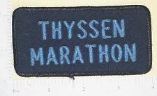 Thyssen Marathon Patch - Canada - Vintage