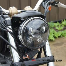 Black LED Headlight Insert - Fits Harley Dyna Street Bob FXDB : 2007–2016