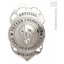 Pecker Inspector Badge Novelty Prop for Police Cop Detective Fancy Dress Accesso
