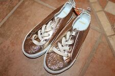 NWT Gymboree Charm Class Size 10 Gold Glitter Flats Tennis Shoes