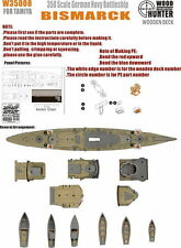 Wood Hunter 1/350 German Navy Battleship Bismarck Wooden Deck for Tamiya #78015