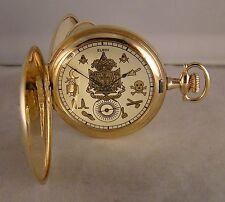 100 YEARS OLD ELGIN 14k GOLD FILLED HUNTER CASE MASONIC DIAL 12s POCKET WATCH