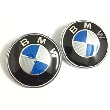 2PCS 82mm carbon fiber hood/trunk emblems car badge for BMW e34 e36 e38 e60