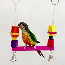 Neu Vogelspielzeug Papagei Vogelschaukel Spielzeug Nymphensittich Holz Schaukel
