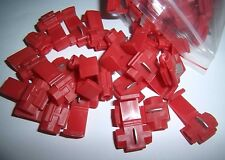 (50) Red 22-18 Ga AWG Gauge 12 Volt Wire Taps Scotch Lock Connectors Terminals