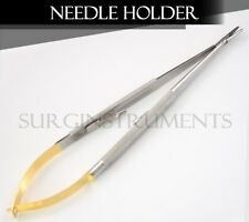 "T/C Castroviejo Needle Holder 7"" STRAIGHT Surgical DENTAL Instruments"
