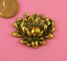 LOVELY ANTIQUE BRASS WATER LILY FLOWER-1 PC(s)