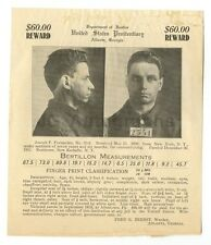 Wanted Notice - Joseph P. Fernandez - U.S. Penitentiary, Atlanta, Georgia 1913