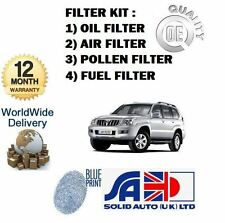 FOR TOYOTA LANDCRUISER 120 4.0 V6 2003-  OIL AIR POLLEN FUEL FILTER SERVICE KIT