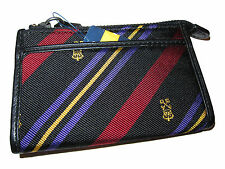 Rugby Ralph Lauren Polo Black Red Crown Leather Wallet Clutch Change Purse