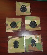 U.S. ARMY DIVERS BADGE,DIVER,1ST CL,SALVAGE,MASTER CLOTH ON MULTICAM, SET OF 5