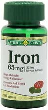 Nature's Bounty Iron 65 mg Tablets 100 Tablets Each