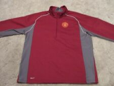MANCHESTER UNITED NIKE THERMA FIT 1/2 ZIP JACKET MEN'S SIZE XL