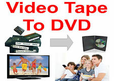 TRANSFER TO DVD * 12 VIDEO TAPES * VHS, VHS-C MiniDV, Hi8 * Convert Memories