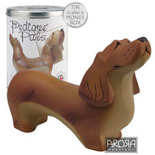 My Pedigree Pals Dachshund Dog Figurine  NEW in TIN Money Box 18032