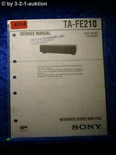 Sony Service Manual TA FE210 Amplifier (#4114)
