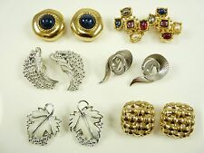 6 Pair of Nice Vintage Clip Earrings Sarah Coventry Givenchy Premier Coro Emmons