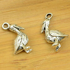 15pc Tibetan Silver Charms Duck Animal Pendant Beads Jewellery Making B659P