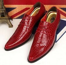 Stylish Mens Dress Formal patent leather Lace up pointy toe Oxfords Casual Shoes