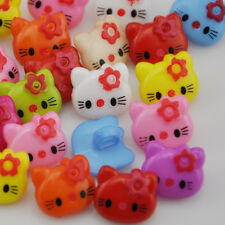 100pcs 14mm Mix Cat Plastic Buttons Fit Sewing Buttons Scrapbook PT45