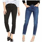M&S Jeans size 8-22 Relaxed Skinny Denim with Turn Up Black Indigo New rrp £26