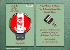 Royale Car Scooter Bar Badge & Clip - LINCOLN CITY FC THE IMPS - B1.1718
