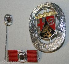 Rheinlandpfalz, Feuerwehr-Ehrenzeichen 25 Jahre mit Miniatur u. Feldspange