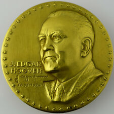 RARE! - J. EDGAR HOOVER FBI GOLD-FILLED MEDAL - Ralph Menconi & Medallic Art Co.