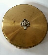Margaret rose vintage powder compact