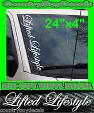 LIFTED LIFESTYLE Vertical Windshield Vinyl Side Decal Sticker Car Truck Turbo