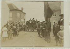 Belgique, Village, Défilé, Fanfare, à identifier  Vintage citrate print Tira