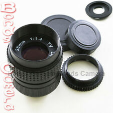 25mm f/1.4 CCTV C Lens for Canon EOS M EF-M mirrorless lens camera + macro ring