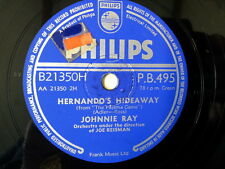 """78 rpm 10"""" JOHNNIE RAY hernado's hideaway / hey there"""