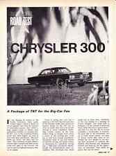 1966 CHRYSLER 300    440/365-HP  ~  ORIGINAL 5-PAGE ROAD TEST / ARTICLE / AD