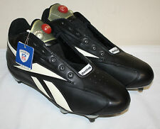 Mens Reebok NFL Equipment Black Ivory Pump Football Cleats Size 18M