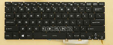 NEW For MSI S1N-2EUS2E1-O04 HMB3709SMA01 OKI keyboard backlit US No Frame