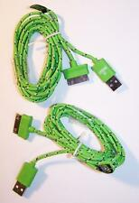 2 GREEN SIX FT IPHONE 4 I PAD CHARGING CABLE CORDS charger phone usb cell RD