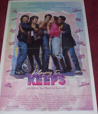 Cinema Poster: PLAYING FOR KEEPS 1986 (One Sheet) Marisa Tomei Harold Gould