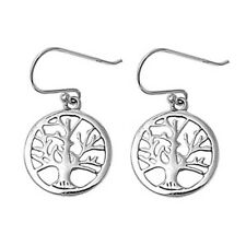 Silver Stud Earrings Tree of Life Height 20 mm (0.80 inch) Sterling Silver