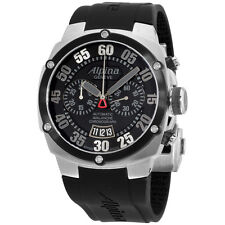 Alpina Avalanche Extreme Black Dial Silicone Strap Men's Watch AL850BB4AE6