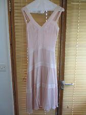 Magnifique vintage soie rose robe de Cacharel taille uk 8