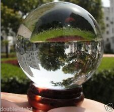 Huge 35-40mm Asian Rare Quartz Clear Magic Crystal Healing Ball Sphere + Stand