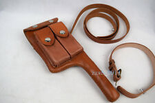 WW2 German Mauser C96 Broomhandle Leather Holster W Straps repro